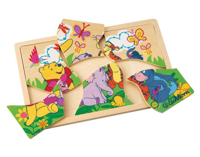 Disney puzzle a cadre dessin 7 pcs winnie tigrou - Puzzle dessin ...