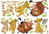 Sticker mural Le roi Lion 70 cm de long