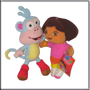 Lot de 2 peluche babouche le singe l 39 ami et dora l - Singe de dora ...