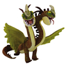 Peluche Dragons Double tête Dreamworks 26 cm