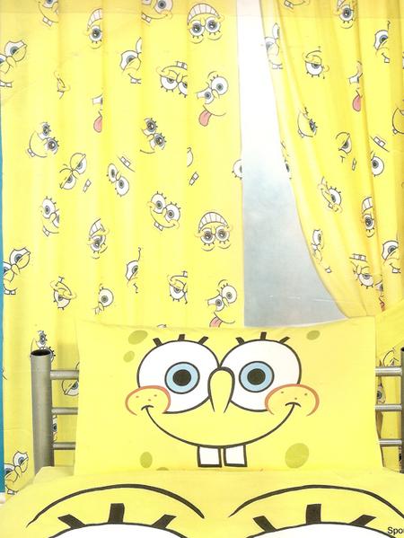 Rideau de chambre Bob L'eponge 168 cm x 137 cm  PLUSHTOY