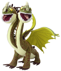 Peluche Dragons Dreamworks double tetes 35 cm