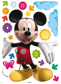 Sticker mickey repositionnable 50x70 cm plushtoy for Stickers mickey chambre