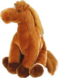 Peluche Wild Republic Cheval Marron 38 cm