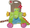 Doudou Nicotoy Crocodile jungle carré 26 cm