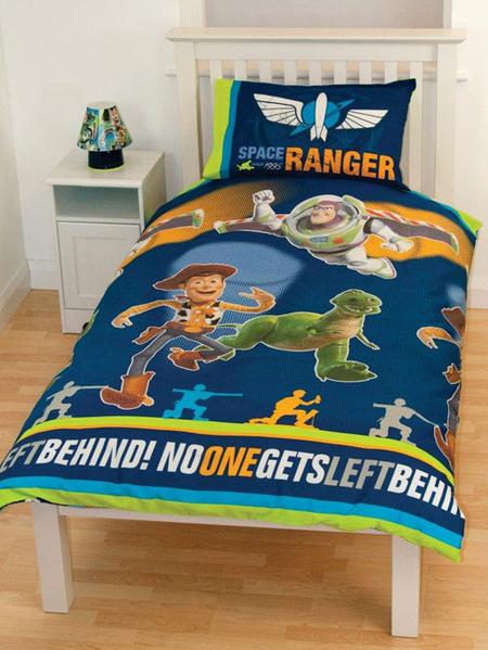Parure housse de couette 135 x 200 taie toy story ranger for Housse de couette power rangers