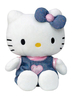 Peluche Hello Kitty 27 cm Salopette en Jean