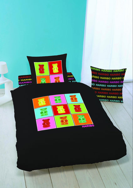 drap housse haribo nounours 90 x 190 200. Black Bedroom Furniture Sets. Home Design Ideas