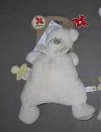 Doudou Nicotoy Rembourré Soft Sweeties Ours 28 cm