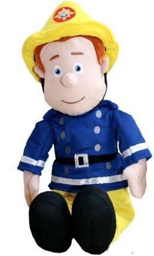 Peluche de sam le pompier 40 cm - Dessin anime sam sam ...