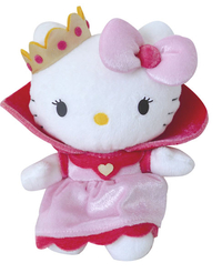 Peluche Hello Kitty Princesse rose  15 cm