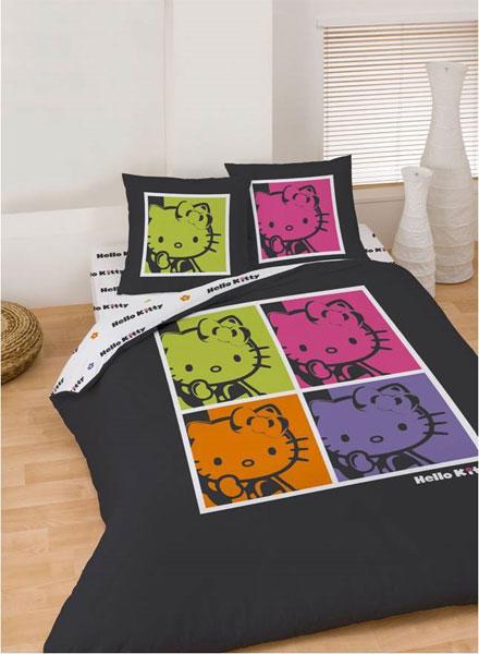 Drap housse hello kitty pop art 140x190 plushtoy - Drap housse 70x140 hello kitty ...