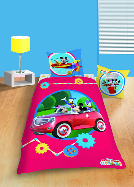 parure housse de couette disney mickey activities 140 x 200 cm taie d 39 oreiller. Black Bedroom Furniture Sets. Home Design Ideas