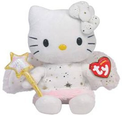 Peluche Hello Kitty Ange Doré 16 cm assise