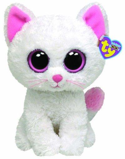 Peluche beanie boo 39 s chat blanc 23 cm - Toutou a gros yeux ...