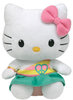 Peluche Hello Kitty Peace and love 15 cm assise
