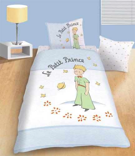 Parure housse de couette le petit prince l gende 140x200 for Housse de couette petit lit