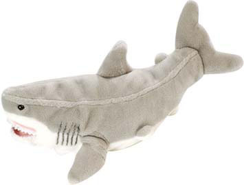Peluche Wild Republic Grand Requin Blanc 35 cm