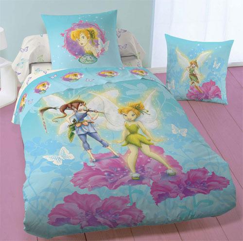 taie d oreiller fee clochette Parure Housse de Couette Disney Fairies Cute Fée Clochette 140 x  taie d oreiller fee clochette