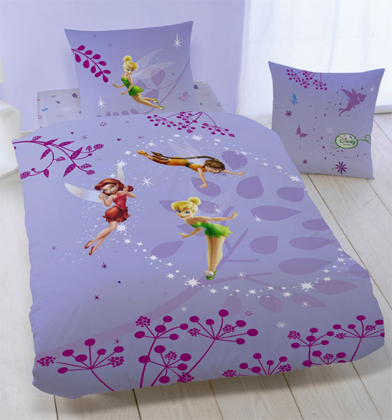 parure housse de couette disney fairies f e clochette flanelle lost treasure 140 x 200 cm taie. Black Bedroom Furniture Sets. Home Design Ideas