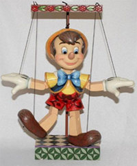 Figurine de collection Disney Traditions Pinocchio Marionette