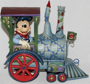 Figurine de collection Disney Traditions Mickey Locomotive