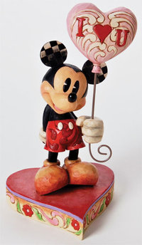 Figurine de Collection Disney Traditions Mickey I Love You