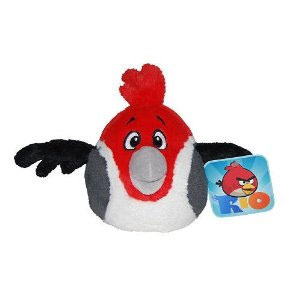 Peluche Angry Birds Rio 20 cm Rouge