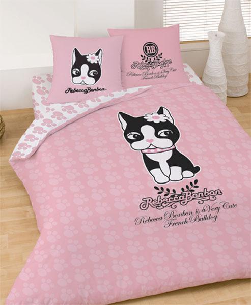 parure housse de couette rebecca bonbon pink 240 x 220 cm + 2
