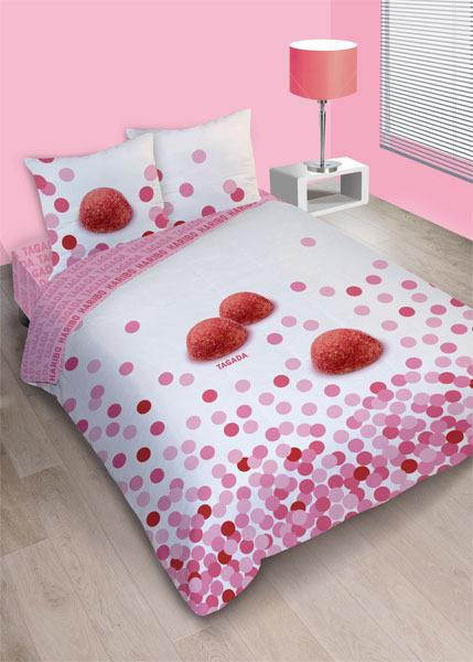 parure housse de couette tagada blanche 240 x 220 2 taies. Black Bedroom Furniture Sets. Home Design Ideas