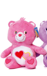 Peluche Bisounours Rose Love a lot 30 cm extra doux
