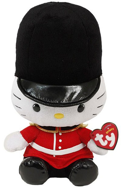 peluche hello kitty 20 cm assise garde anglais plushtoy. Black Bedroom Furniture Sets. Home Design Ideas