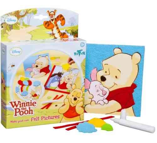 Création de cartes en feutrine Disney Winnie l'ourson