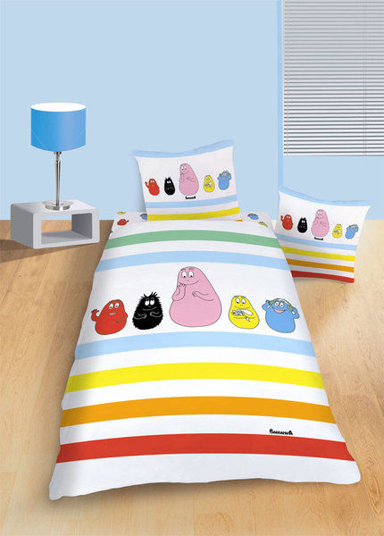 parure housse de couette barbapapa farandol 140x200 cm plushtoy. Black Bedroom Furniture Sets. Home Design Ideas