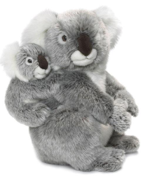 peluche maman koala avec b b 28 cm plushtoy. Black Bedroom Furniture Sets. Home Design Ideas