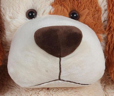 peluche chien g ant 1 m tre nom d 39 un chien beige. Black Bedroom Furniture Sets. Home Design Ideas