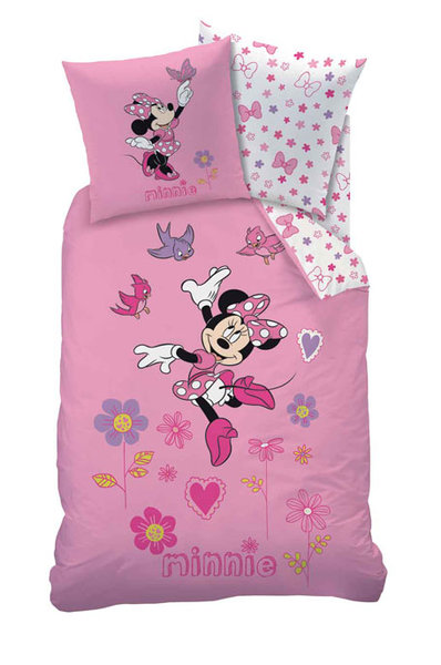 parure housse de couette disney minnie bonheur plushtoy. Black Bedroom Furniture Sets. Home Design Ideas