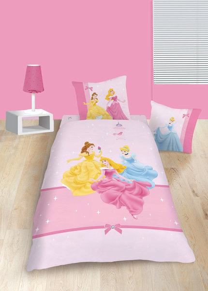 parure housse de couette disney princesses glitter plushtoy. Black Bedroom Furniture Sets. Home Design Ideas