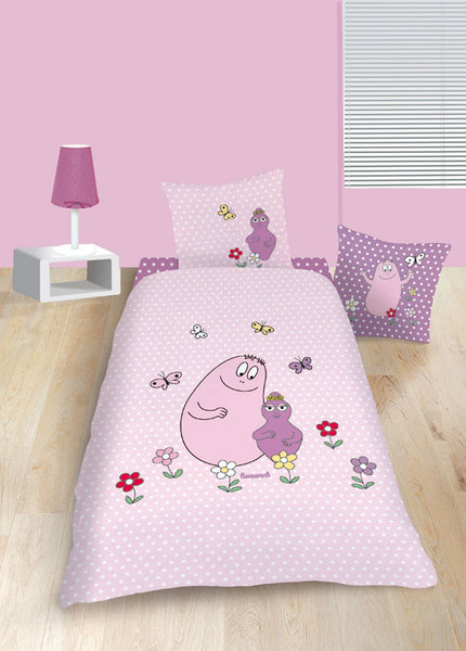 parure housse de couette barbapapa c lin rose. Black Bedroom Furniture Sets. Home Design Ideas