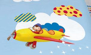 Parure housse de couette oui oui petit avion plushtoy for Housse couette oui oui