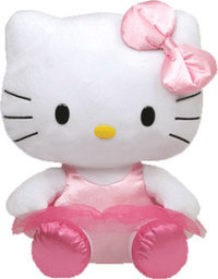 Peluche Hello Kitty Danseuse 33 cm