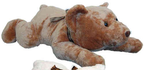 Peluche Ours Couché 60 cm de long Marron