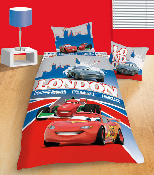 parure housse de couette disney cars london poly plushtoy. Black Bedroom Furniture Sets. Home Design Ideas