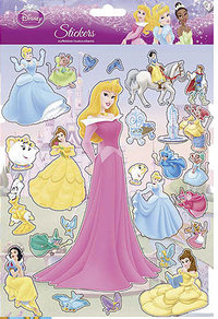 Stickers Disney Princesses planche de 19.5 x 25 cm