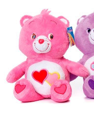 Peluche Bisounours Rose Love a lot 44 cm extra doux