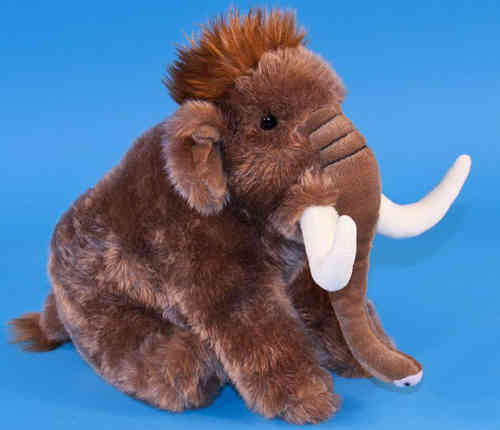Peluche Mammouth Assis 30cm