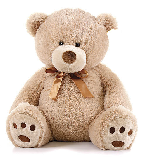 peluche ours assis marron 60 cm plushtoy. Black Bedroom Furniture Sets. Home Design Ideas