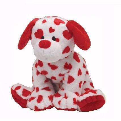 Peluche Ty Pluffies Chien Harts love 26 cm