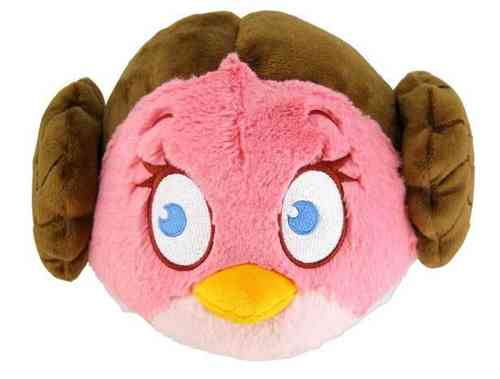 Peluche Angry Birds Star Wars Leïa 13 cm