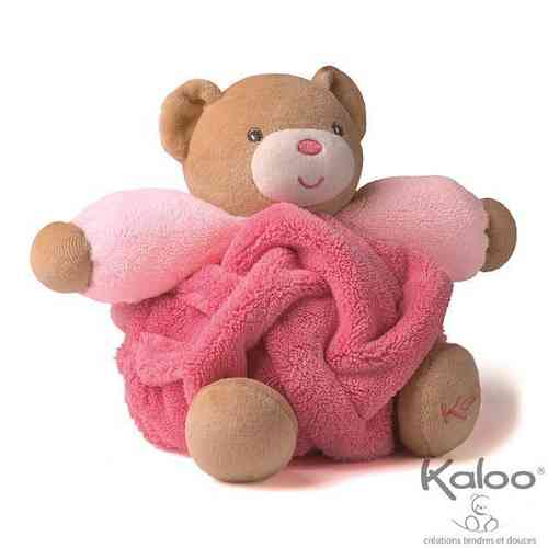 Peluche Kaloo Plume P'tit Ours framboise